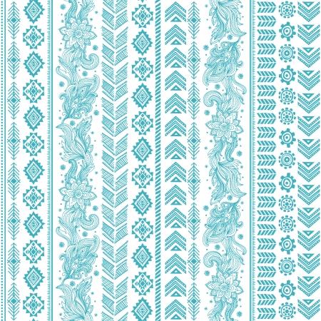 Tribal vintage ethnic pattern seamless illustration Vector Illustration