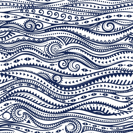 Tribal Jahrgang ethnischen Muster nahtlose Darstellung
