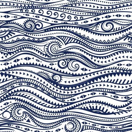 flower patterns: Tribal vintage etnisch patroon naadloze illustratie
