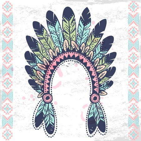 native bird: Conjunto americano tribal vendimia nativa de los s�mbolos Vectores
