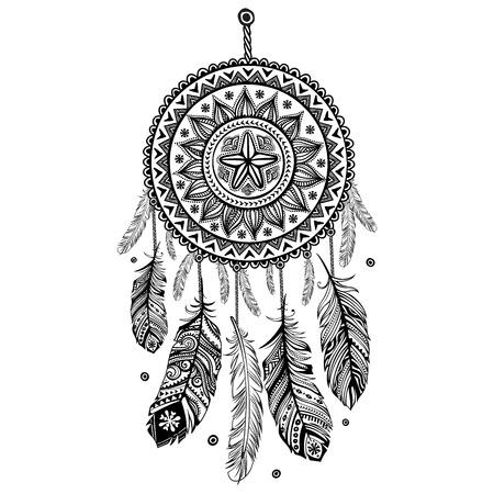 Etnische American Indian Dream catcher Stock Illustratie