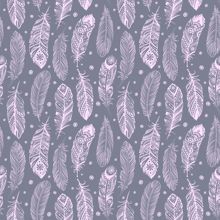 Beautiful Feather pattern seamless for you business