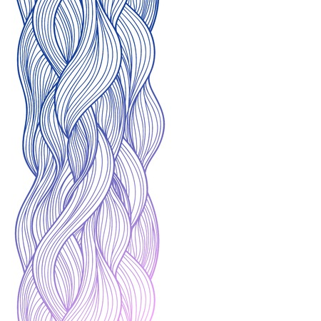 flowing hair: Purple abstract waves background for your business Illustration