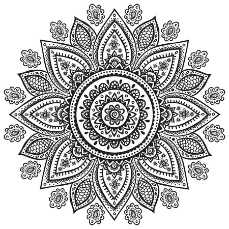 henna pattern: Beautiful Indian floral ornament for your business