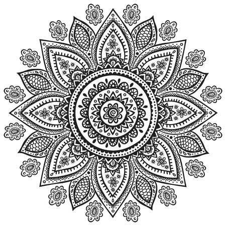 Hermoso adorno floral indio para su negocio Foto de archivo - 25880696
