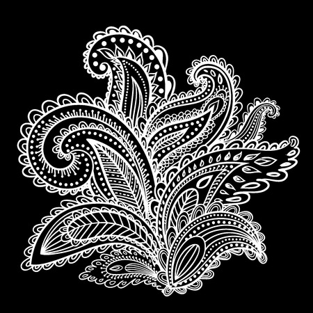 Beautiful Indian paisley ornament for your business Vector