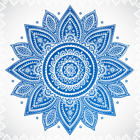 lace pattern: Beautiful Indian floral ornament for your business