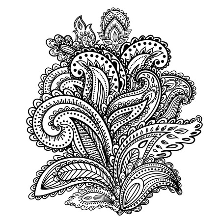 paisley design: Beautiful Indian paisley ornament for your business