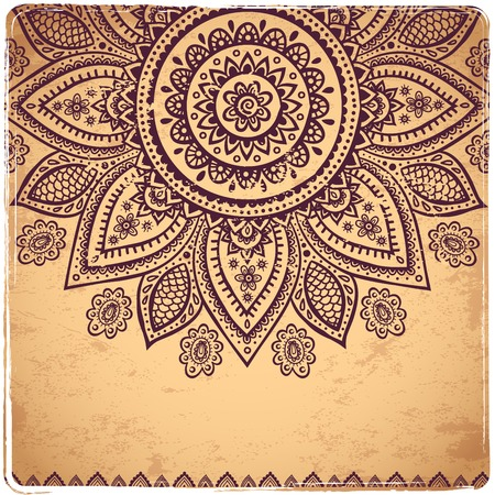 mehndi: Beautiful Indian floral ornament