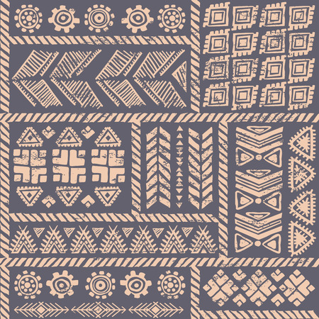 african fabric: Tribal vintage ethnic seamless