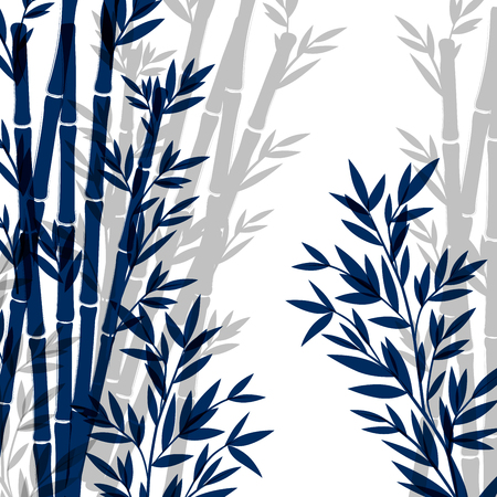 Isolated Ink Bamboo illustration on a white background Ilustrace