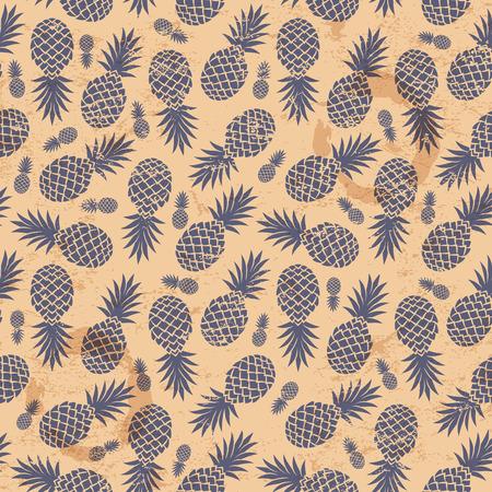 Beautiful Vintage pineapple seamless  Vector