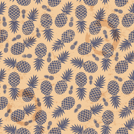 stylize: Beautiful Vintage pineapple seamless