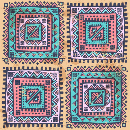 Tribal vintage ethnic seamless pattern Vector