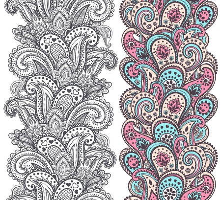 Beautiful Indian paisley ornaments for your business Vector