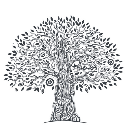 Beautiful Unique ethnic tree of life illustration Vector