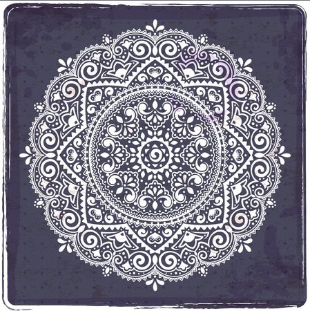Beautiful Indian floral ornament can be used as a greeting card Vector