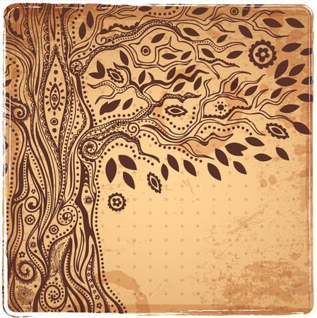 Beautiful Unique ethnic tree of life illustration Фото со стока - 27744429