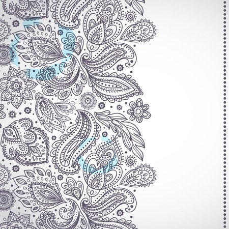 Beautiful Indian floral ornament for your business Vector