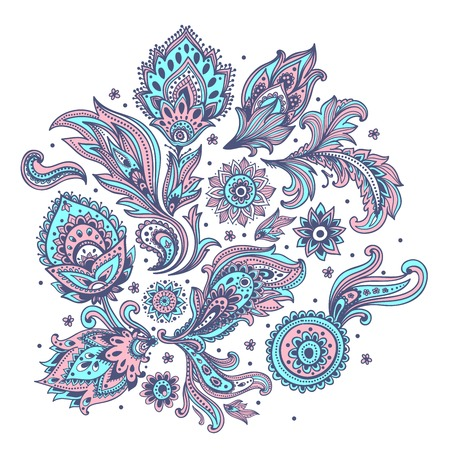 lace pattern: Beautiful Indian paisley ornament for your business