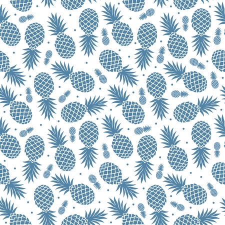 Vintage isolated pineapple seamless for your business Vector