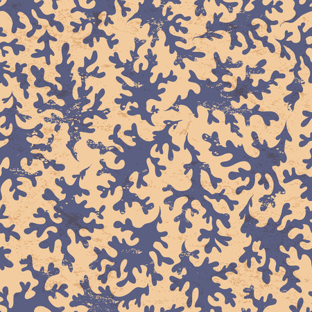 reef fish: Beautiful vintage coral seamless for your business