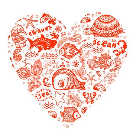 물고기와 bisuness위한 포탄의 벡터 설정
