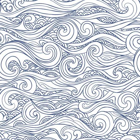 Jahrgang nahtlose mit ethnischen Wellen für Ihr Unternehmen Illustration