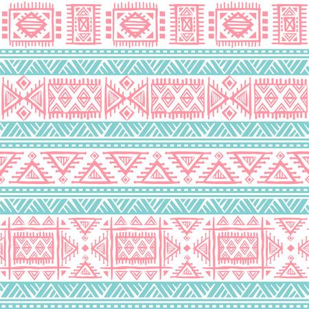 vintage colors: Tribal vintage ethnic seamless