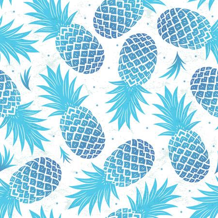 Weinlese-Ananas nahtlose Illustration