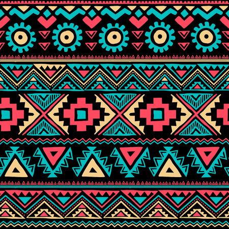 tribal pattern: Tribal vintage ethnic seamless