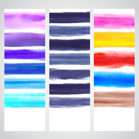 watercolour: Set of watercolor banners