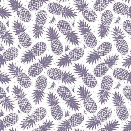 seamless: Vintage ananas bezešvé Ilustrace