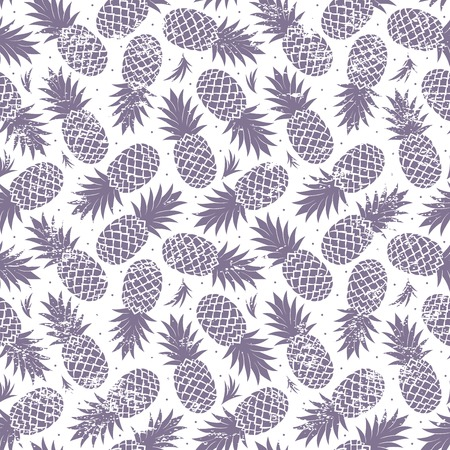 pattern sans soudure: Vintage ananas sans soudure Illustration