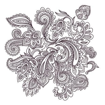 Beautiful Indian paisley ornament 向量圖像