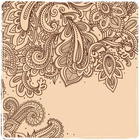 Beautiful Indian paisley ornament Illustration