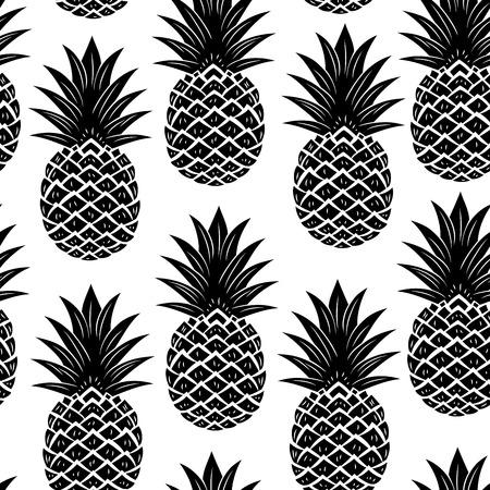 pineapples: Sin fisuras pi�a Vintage Vectores