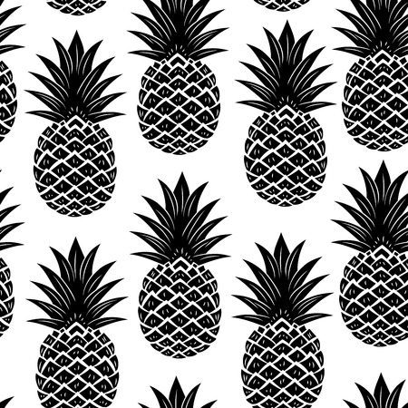 vintage pattern background: Vintage pineapple seamless