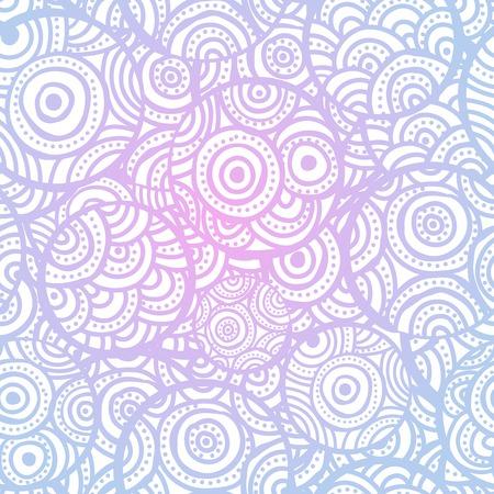 watercolour: Hand drawn ethnic circles seamless