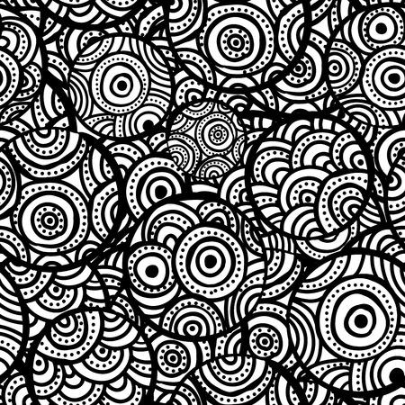 Hand drawn ethnic circles seamless