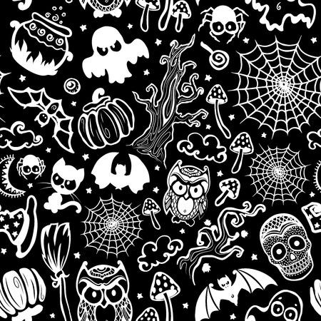 Vector vintage Halloween seamless Illustration