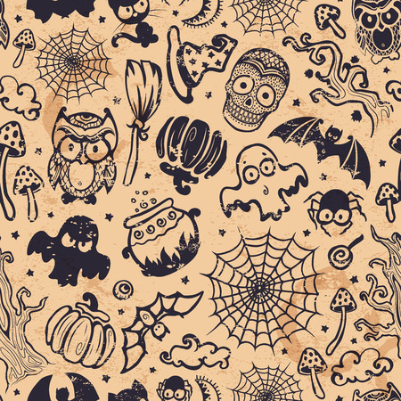 Vector vintage Halloween seamless Vector