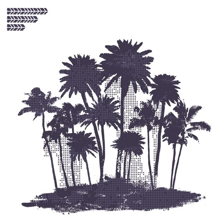 Vector Palmen illustratie Stock Illustratie