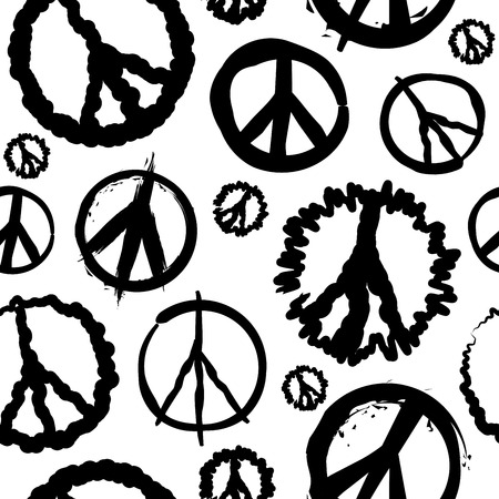 symbol: Retro Peace symbol seamless