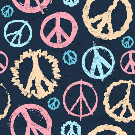 peace symbol: Retro Peace symbol seamless