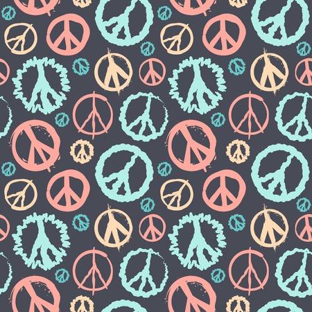 peace graphics: Retro Peace symbol seamless