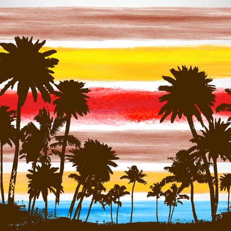 Palm trees illustration Vector