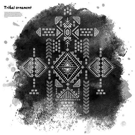 Tribal vintage ethnic background Ilustrace