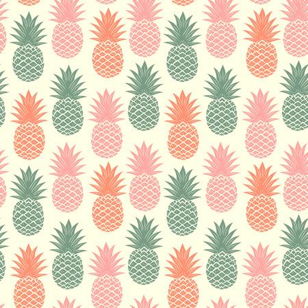 pattern sans soudure: Vintage ananas transparente