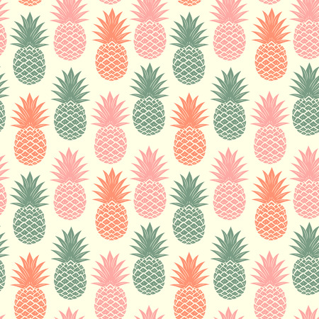 Vintage pineapple seamless Stock Vector - 32327715